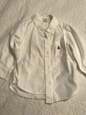 Baby Gap Toddler Boy Brannan Bear White Long Sleeve Collar Shirt 2T EUC