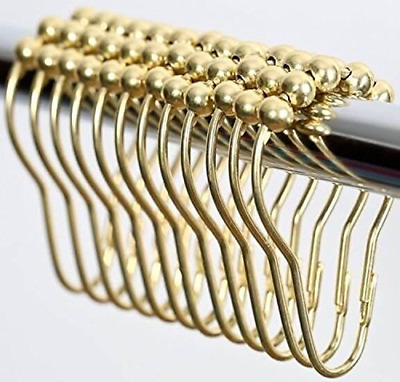 High Quality Rustproof Stainless Steel Polished Brass Shower Curtain Hooks and