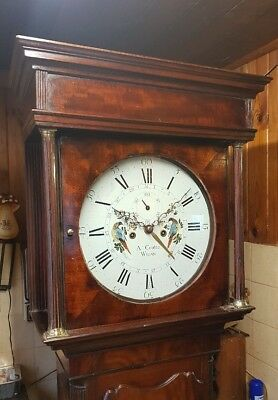 A Superb Georgian Mahogany Centre Calendar Longcase Grandfather Clock C1780