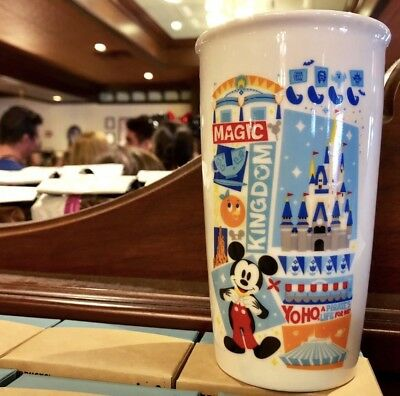 Starbucks Disney Parks 2018 NEW Magic Kingdom Ceramic Mug Tumbler Exclusive