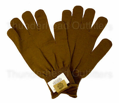 Army WOOL GLOVE INSERTS Liners Coyote Brown USGI US Military GI XL NEW