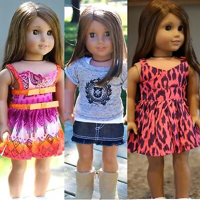 """Lot of 3 SET DOLL CLOTHES FITS 18"""" AMERICAN GIRL DOLL- CLOTHES 5721 -Handmade-US"""