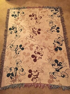Disney Parks Mickey Mouse Woven Tapestry Throw