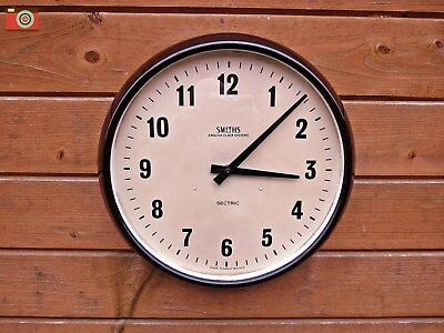 Vintage Bakelite Smiths Sectric Wall Clock, Restored & Converted To Electronic!