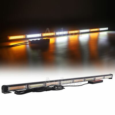 "50"" Strobe Lightbar COB LED Traffic Adviser Warning Emergency Beacon Amber White"