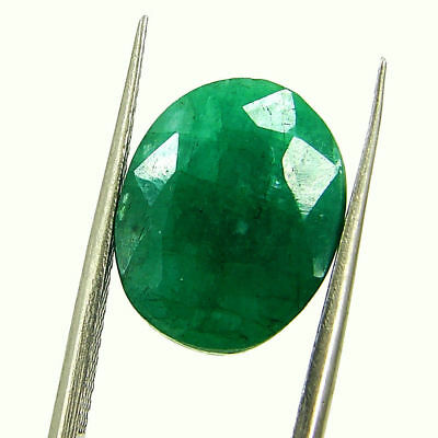 6.87 Ct Certified Natural Green Emerald Loose Oval Cut Gemstone Stone - 131236
