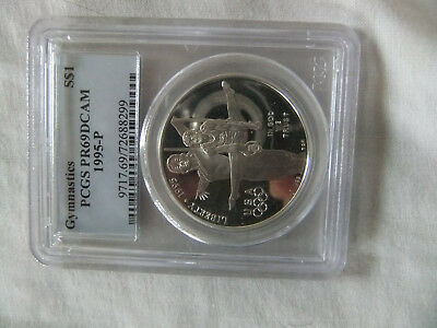 1995-P Gymnastics $1 Proof Silver Commemorative Coin PR69 DCAM PCGS