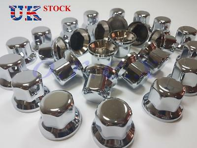 20x 33mm Lux Plastic CHROME Wheel Nut Cover Caps fit Truck Scania Mercedes Volvo