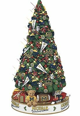 Michigan Wolverines Football Lighted Christmas Tree