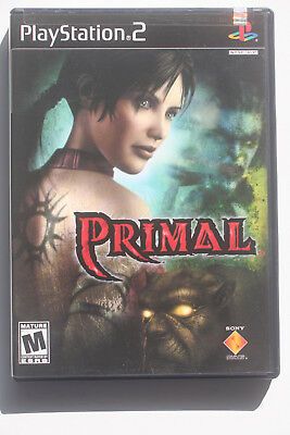 Primal PS2 US NTSC Case, Cover Art and Manual in Like New and Complete Condition