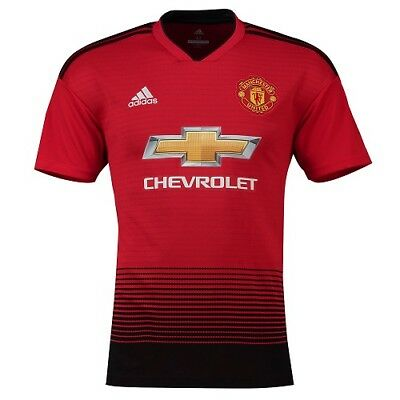 Official Manchester United Home Jersey Shirt Tee Top 2018 19 junior 7-8 years