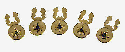 4031812 Mason Button Covers Masonic Freemason Set of 5 Square Compass Tuxedo Tux