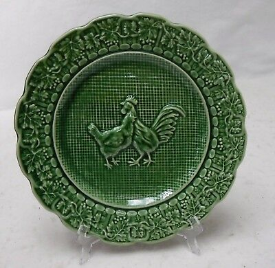 BORDALLO PINHEIRO Portugal HEN & ROOSTER pattern Salad Plate  8-1/4""
