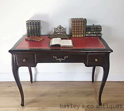 French Vintage Louis Style Writing Table Desk Leather Top - OF028