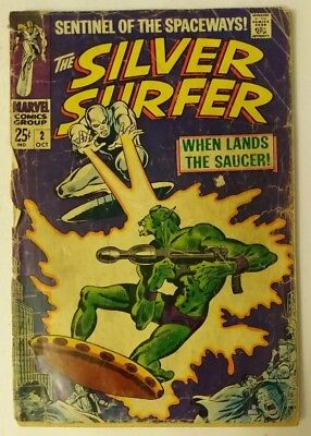 The Silver Surfer #2 Marvel Comics 1968 Silver Age Reader Copy Movie Soon MCU