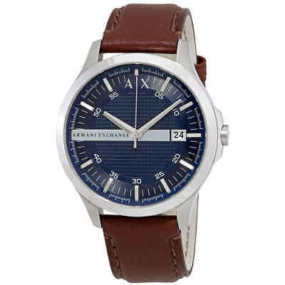 Armani Exchange Navy Dial Brown Leather Men's Watch AX2133