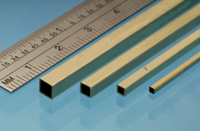 """Albion Alloys SQUARE BRASS TUBE Imperial range in 12"""" lengths Precision Metal"""