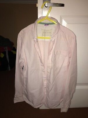 Boys  River Island Shirt Age 8 Years PINK AND WHITE STRIPE WORN ONCE