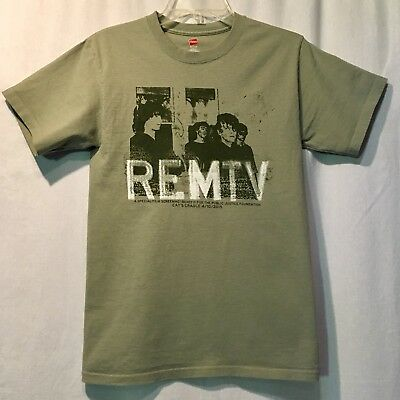 REMTV Limited Edition R.E.M. T-Shirt REM MTV Green Cotton Small Cats Cradle 2015