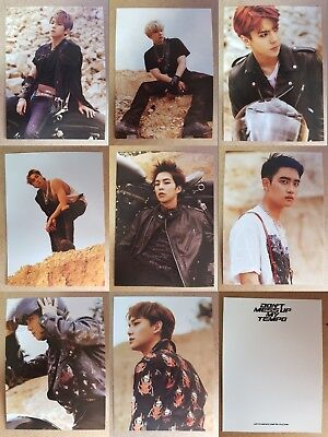 LOT of 8 EXO USA Official Postcard PHOTOCARD [DON'T MESS UP MY TEMPO 5th Album
