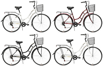 Tiger Town & Country Ladies Heritage Hybrid Traditional Bike 700c 6 Spd