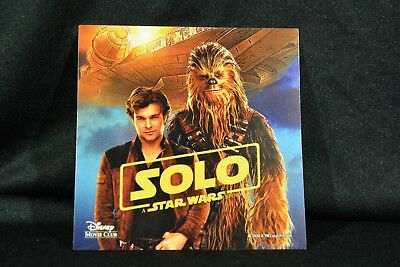 """Lot of 3 Disney Movie Club Authentic """"Solo"""" Removable Sticker"""