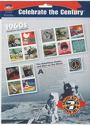 1999- CELEBRATE THE CENTURY 1960's - #3188 Mint Sheet of 15 Stamps FREE SHIPPING