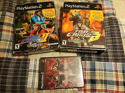 Time Crisis II and III, and Vampire Night all complete w light guns PS2