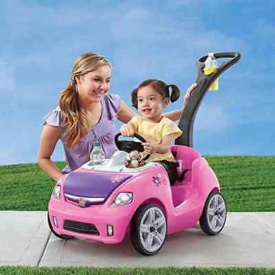 Interactive children's stroller for girls with pink steering wheel FREE SHIPPING