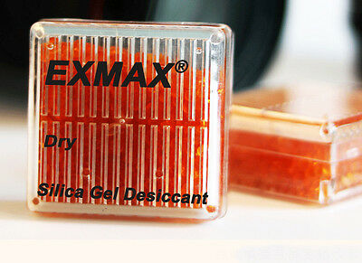 6 x Silica Gel Orange Indicating Desiccant Reusable Drier Box Canister Container