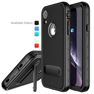 For Apple iPhone XR Waterproof Case Slim Cover with Kickstand & Screen Protector