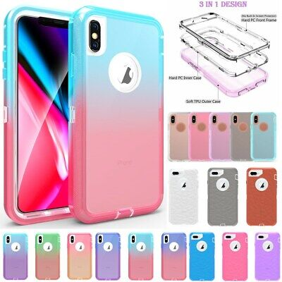 FOR IPHONE XS Mas XR X 8 7 6 360°Full Body Defender Hybrid