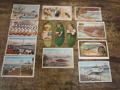 LOT OF 13 1900's H. J. HEINZ PICKLES PITTSBURGH, PA POSTCARDS L@@K!!!