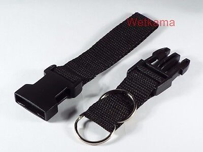 Police Security Twin Split Ring Belt Loop Quick Release Key Fob Strap UK Made