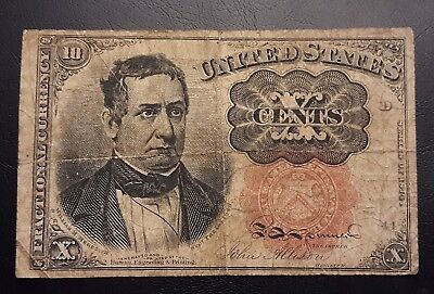 1874 5Th Issue 10 Cents Fractional Currency