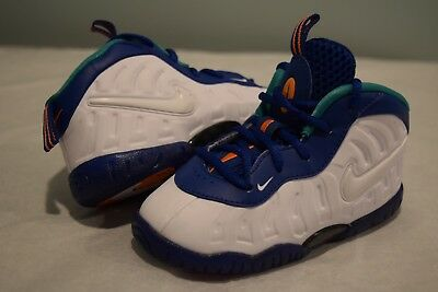 18419f6750103 NIB Nike Little Posite Pro TD Toddlers sz 6C-8C 843769 404 blue white  sneakers