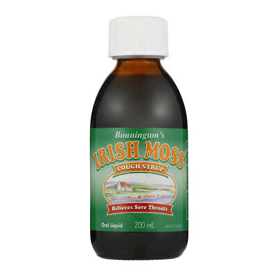 Bonningtons Irish Moss Cough Syrup 200Ml Oral Liquid Relieves Sore Throats