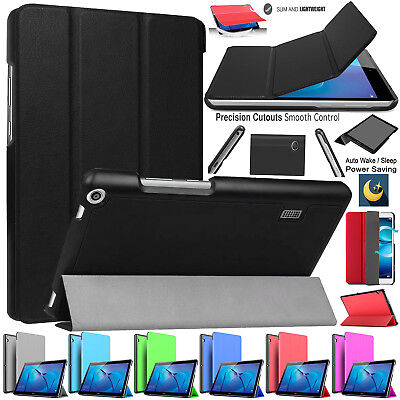 "Huawei MediaPad T3 THREE 10/9.6"", 8"",7""Inch Smart Flip Leather Screen Case Cover"