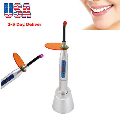 USA Dental 10W Wireless Cordless LED Curing Light Lamp Machine 2000MW Silver