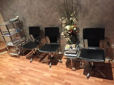 Hairdressing Salon Side Chairs - 3 Available