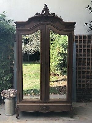 Magnificant Vintage French Double Door Armoire/linen Press/ Cupboard