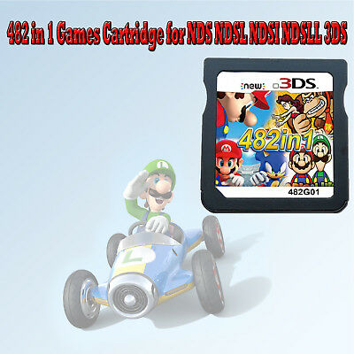 482 in1 Game Console Games Cartridge Mario Multicart for NDS NDSL NDSI NDSLL 3DS
