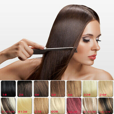 140G160G 30Inch Thick Long Full Head 18colors Clip in Remy Human Hair Extensions