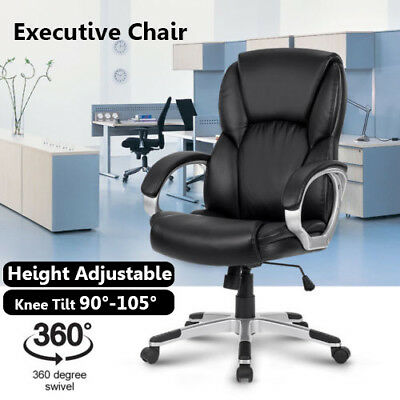 Racing Executive Office Chair Computer Gaming sport Deluxe PU Leather Mesh AU