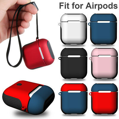 Custodia protettiva in silicone morbido +cover rigida antiurto per Apple AirPods