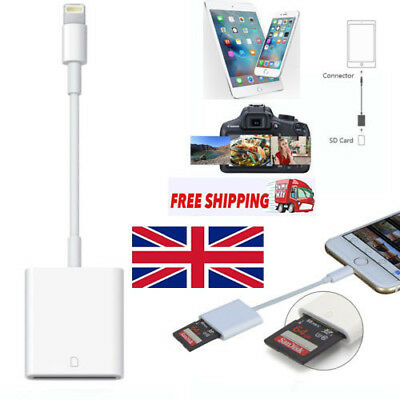 UK Camera SD Card Reader Adapter Cable for iPhone 7 Plus 6S Apple iPad Pro Air