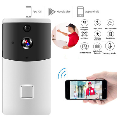 WiFi Wireless Video Doorbell Two-Way Talk Smart Door Bell Security Cam Android