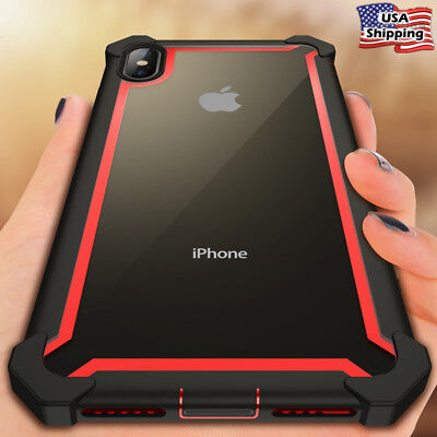 For iPhone XS Max XR X 8 7 Hard Hybrid Silicone Heavy Duty Shockproof Case Cover