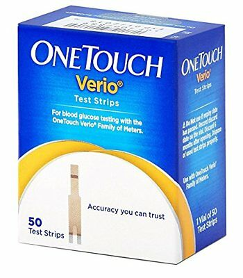 OneTouch Verio Test Strips   50 Count (Multicolor)   Free Shipping