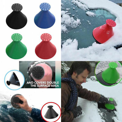 Practical Car Windshield Ice Scraper Cone Shaped Window Ice Snow Cleaner Remover